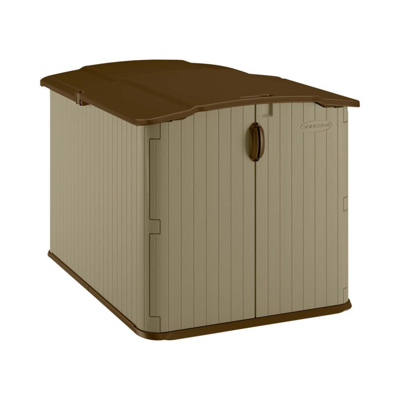 Suncast Glidetop Horizontal Shed Bms4900 Storage Sheds Resin Outdoor Storage Patio Furniture Storage Shed Storage