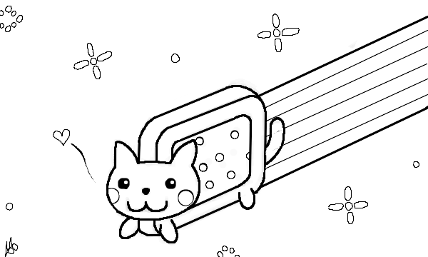 Nyan Cat Coloring Pages  You need Flash 8 or higher to see a