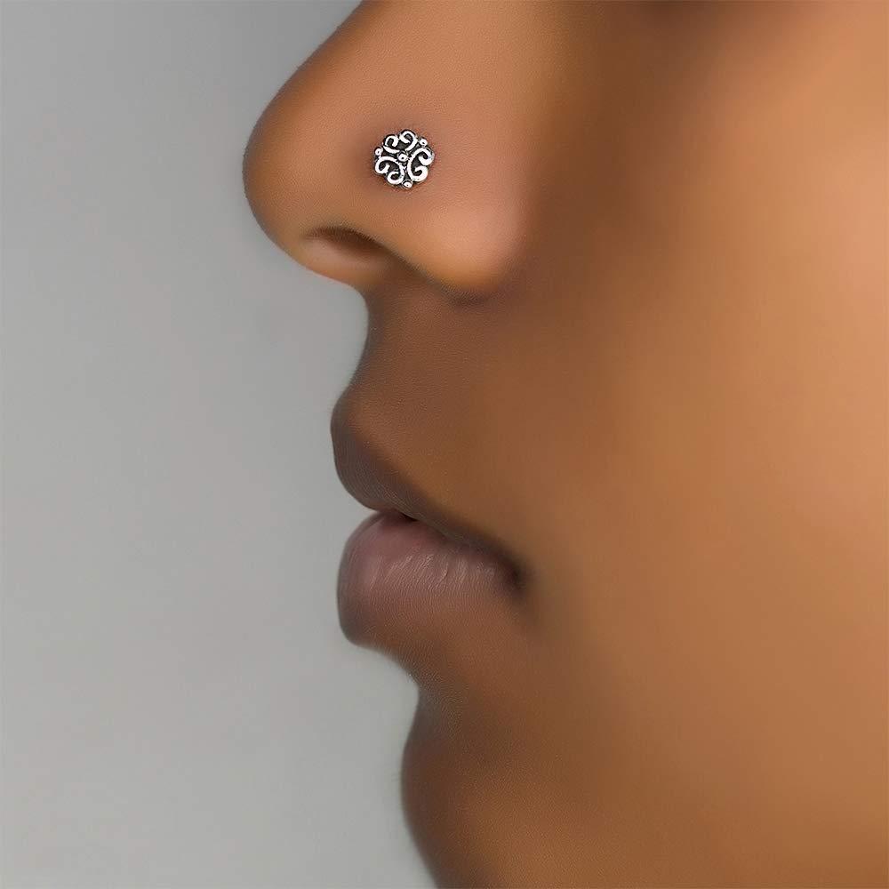 Nose Rings Studs Etsy Nose Ring Stud Nose Ring Rings