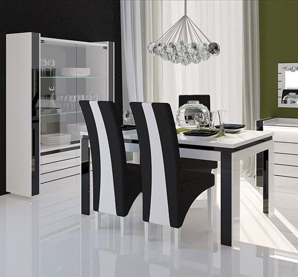 Impressionnant Chaise Salle A Manger Noir Et Blanc  Dcoration