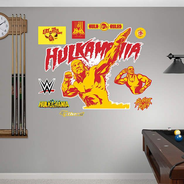 Hulk Hogan Hulkamania Logo Fathead Wall Decal