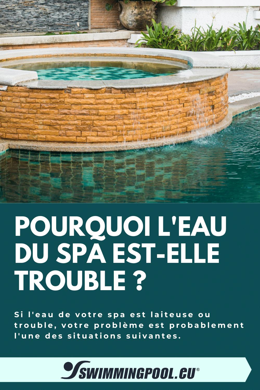 6 Explications : Pourquoi l'eau du spa est-elle trouble ? Maintenir l'eau propre et claire du spa n'est pas aussi facile que d'ajouter quelques produits chimiques. D'abord, il faut investir un peu de temps pour diagnostiquer le problème afin d'exécuter la bonne solution. Si l'eau de votre spa est laiteuse ou trouble, votre problème est probablement l'une des situations suivantes. #swimmingpoolEU #spa #spas #detente #detente #détente #wellness #bienetre #bienêtre #selfcare #relax #confort #repos