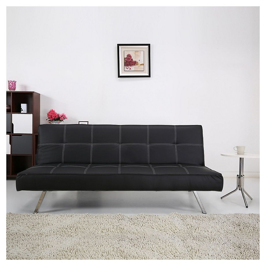 Home Collection Futón 76x91x180 cm negro | Pinterest