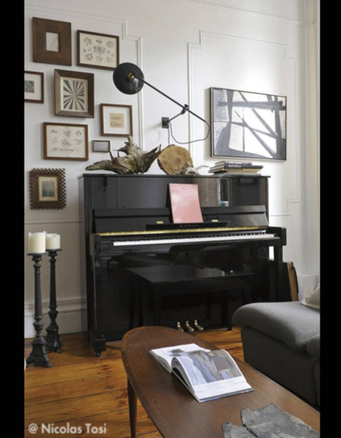d coration salon piano deco pinterest decoration salon piano et salon. Black Bedroom Furniture Sets. Home Design Ideas
