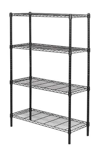 Wire Shelving 14 X 36 X 54 Four Shelf Black At Menards Whitmor Shelving Unit Wire Shelving Units