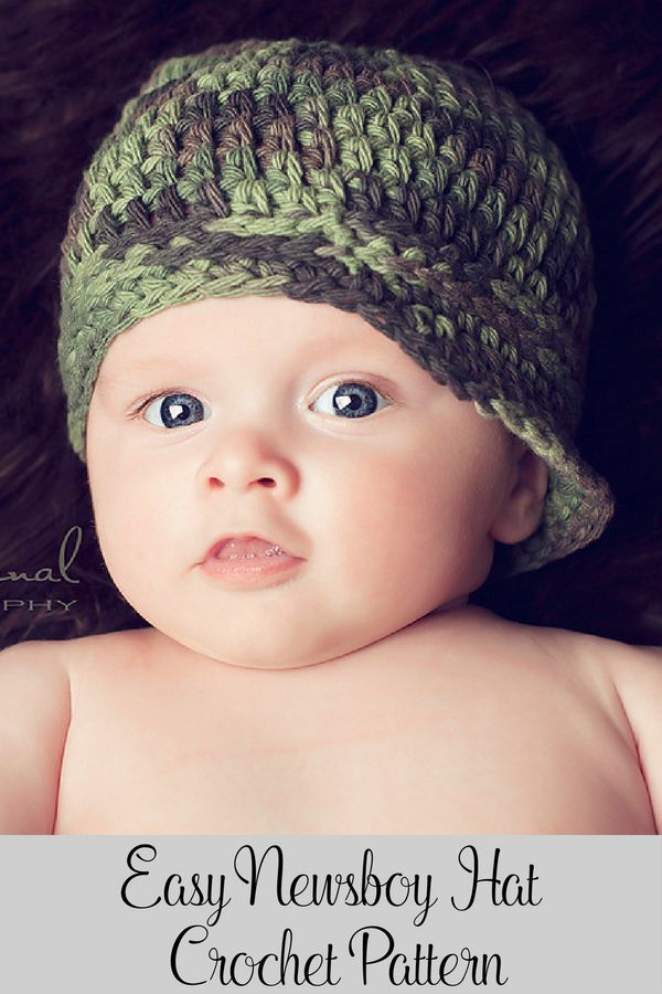 Crochet Pattern Crochet Baby Newsboy Hat Pattern Pinterest