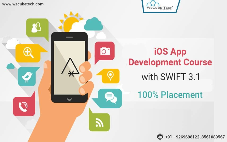 Updated Syllabus Ios Appdevelopmenttraining With Swift 3 1 At Wscube Tech Live Projects 100 App Development Course App Development Iphone App Development