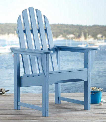All Weather Upright Adirondack Chair L L Bean Adirondack
