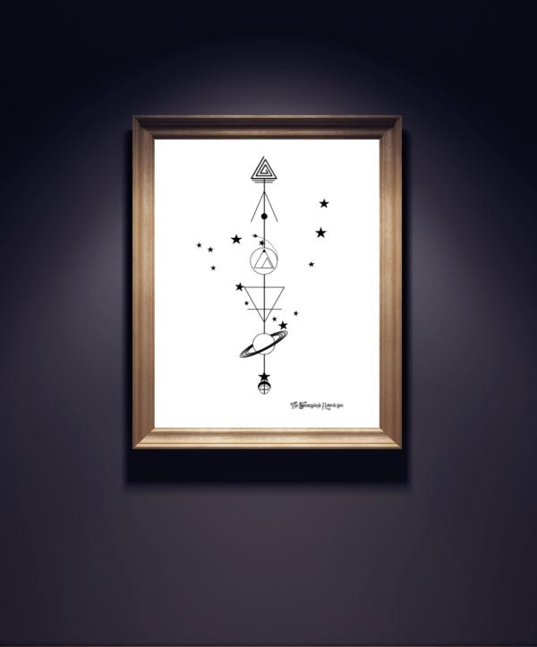 Photo of Capricorn Geometric Zodiac Card – Der Steampunk-Astrologe, #Astrologe #Capricorn #capricor …