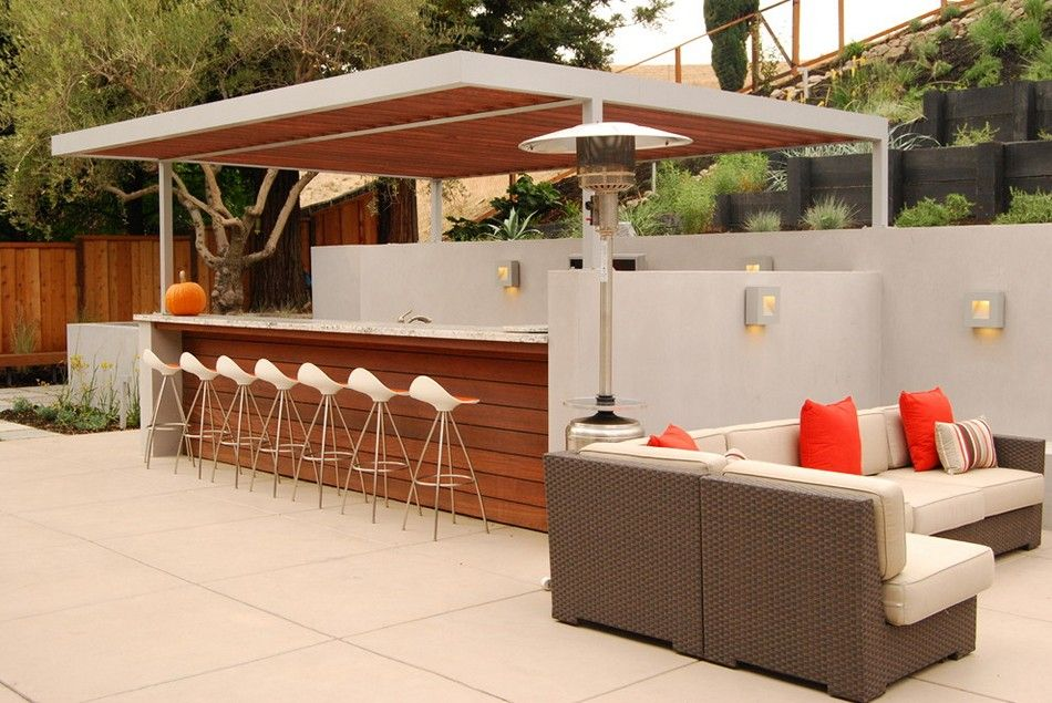 Awesome Modern Outdoor Bar Design Asian