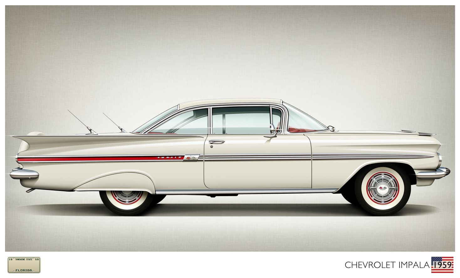 This 1959 #Chevrolet Impala was my very first car. I was 13 years ...