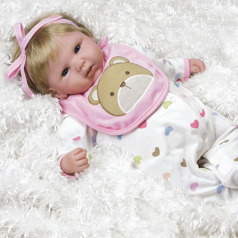 7199933ce812 Happy Teddy Reborn Baby Girl Doll for Kids Age 3+