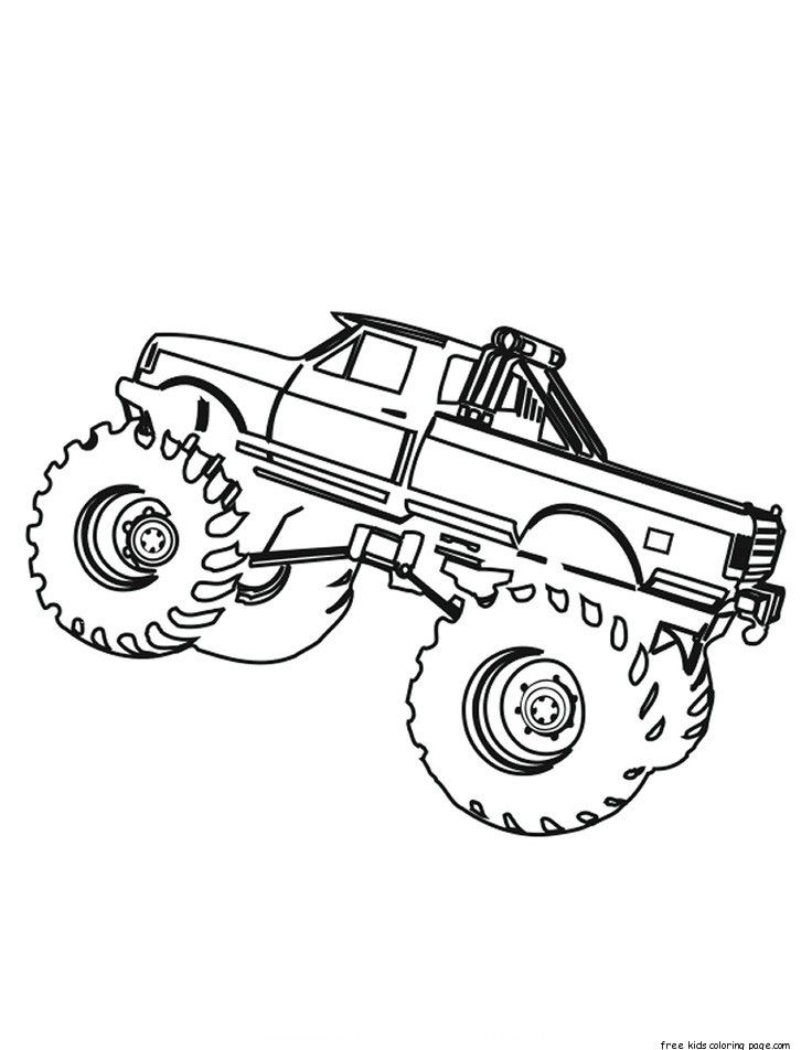 Printable monster truck coloring pages for kids.Print out monster ...