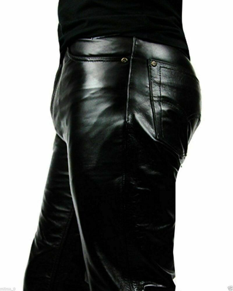 Soft Lambskin Black Leather Pant Designer Leather Pant New Men's Pant  #Unbranded #Fitness