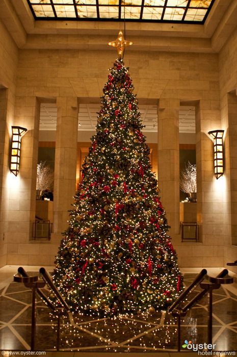 New York Hotels Deck Their Halls For Christmas Holiday Christmas Tree Christmas Holiday Decor