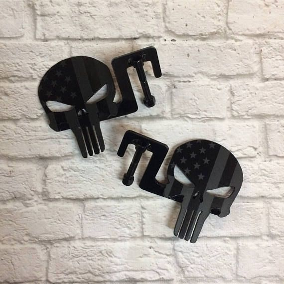 Custom Laser Etched Punisher Flag Footpegs Custom Jeep Jeep