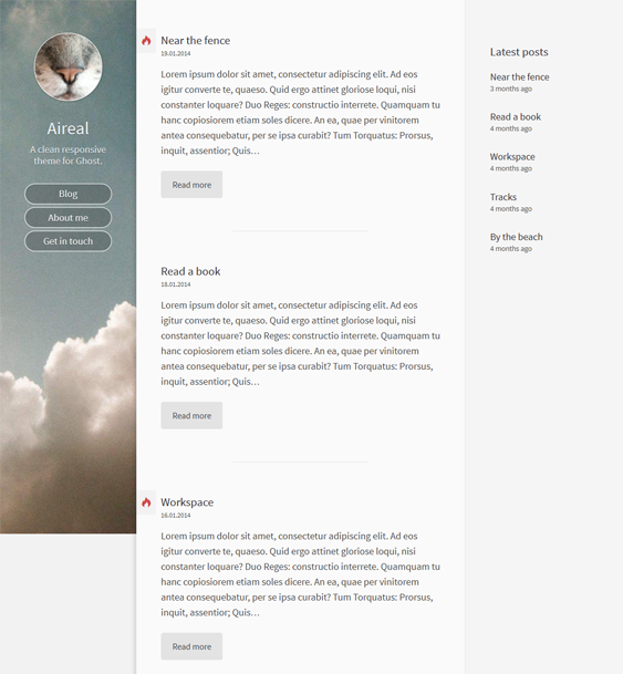 This Minimal Ghost Theme Includes Google Fonts A Responsive