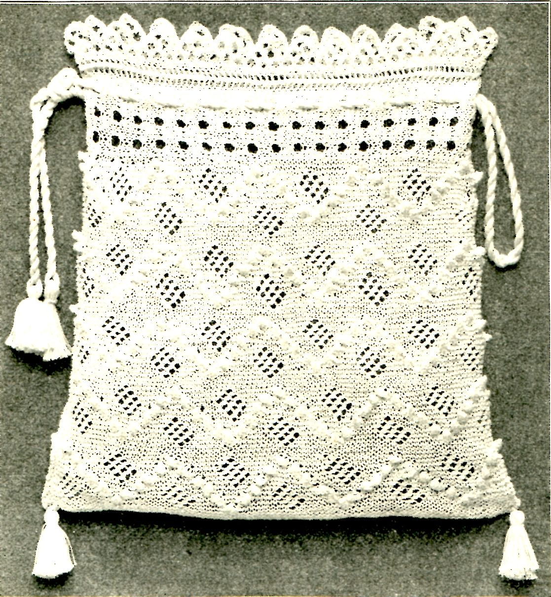Free Vintage Crochet Bag Pattern : Vintage Crafts and More - Antique Knitted Bag Pattern ...