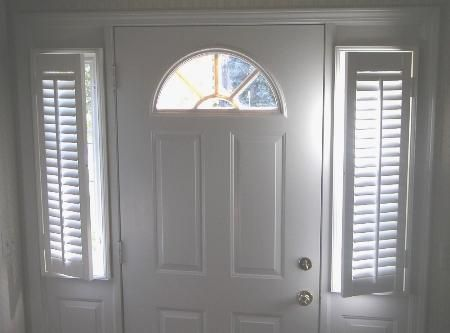 entry foyer sidelight privacy and a uniform look with other window treatments by adding sidelight