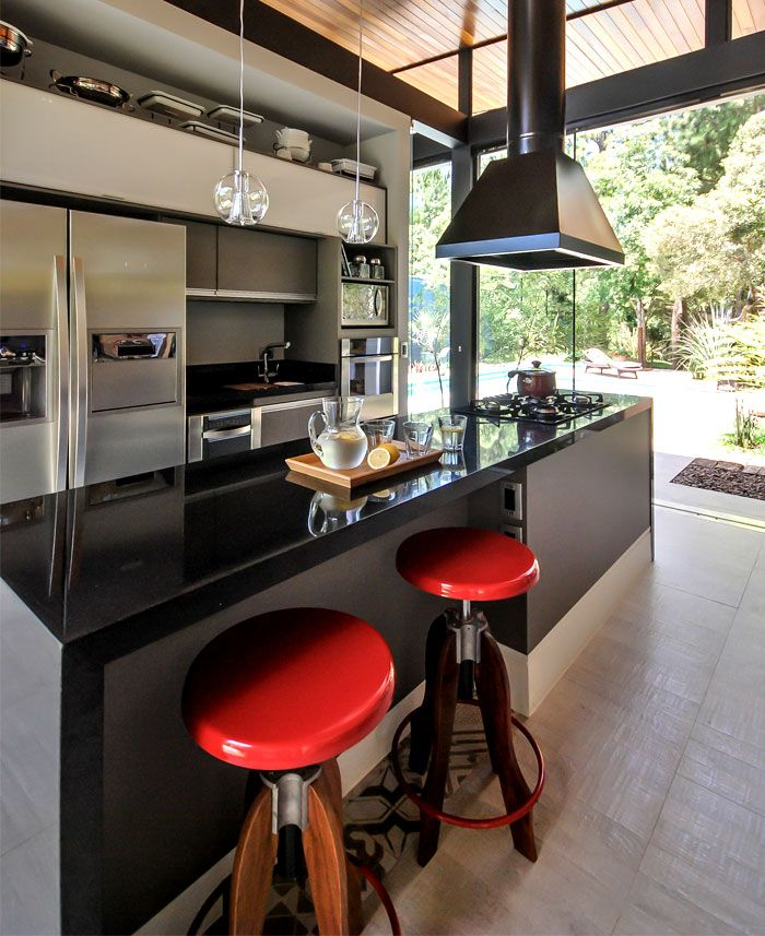 Kitchen Decoration With Waste Material: Brazilian House With Stylish #Architecture And Rustic