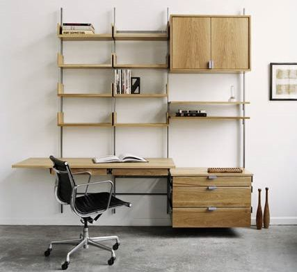 Atlas As4 Wall Mounted Tv Stand And Library Shelving Modular Furniture System Modular Desk System Modular Furniture