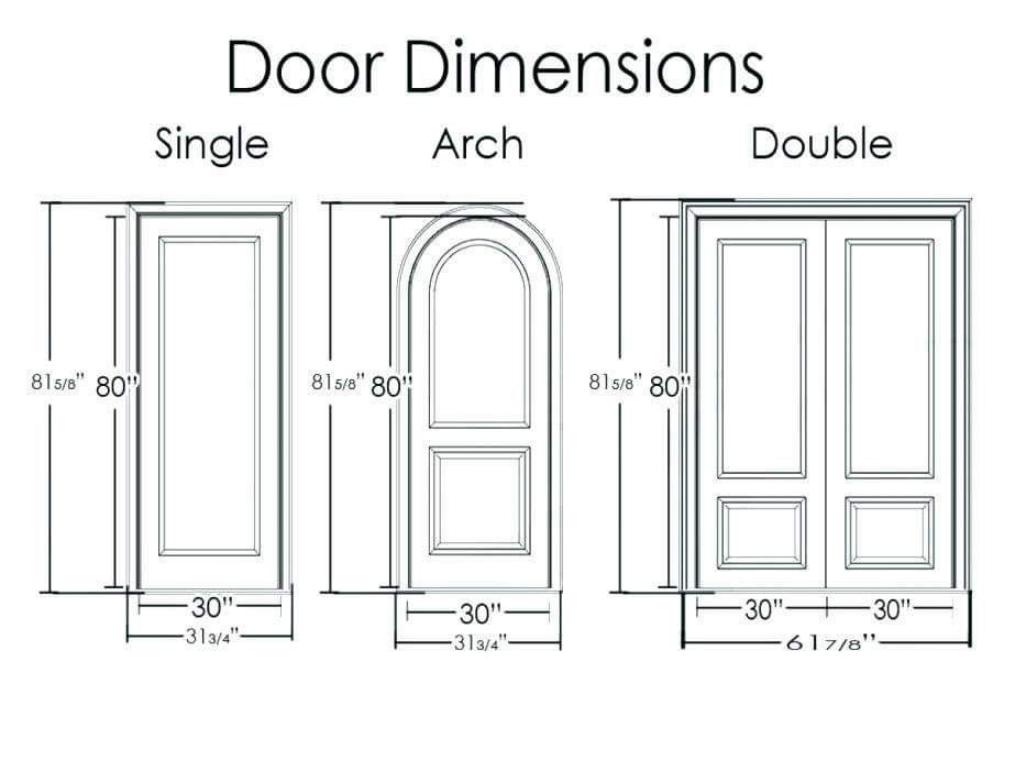 Standard Door Dimension Double Doors Exterior Double Entry