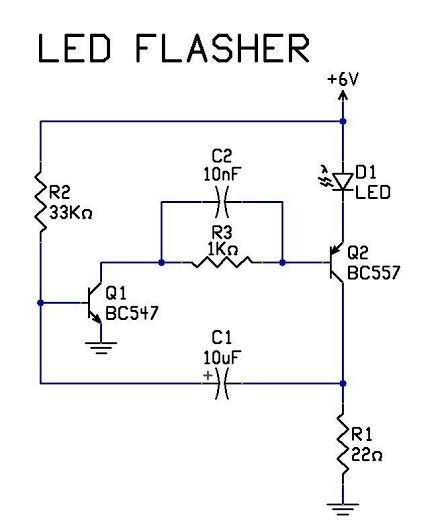 Ledflashercircuit Is An Electricalcircuit Used To Power A Light Emitting Diode Esquemas Eletronicos Projetos Eletricos Componentes Eletronicos