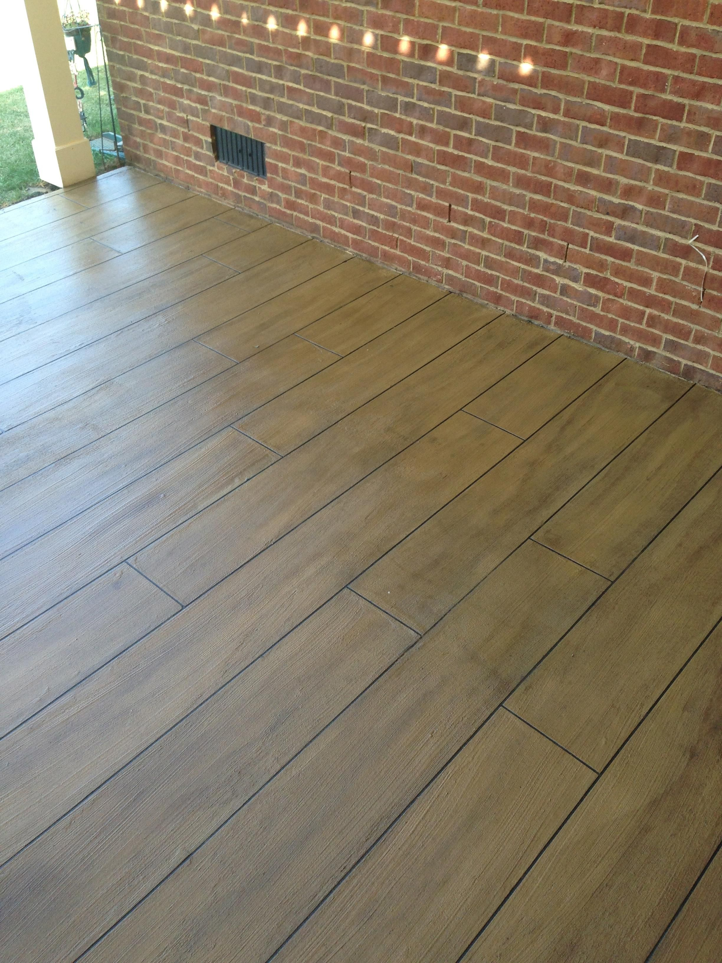 Cti S Concrete Coating Designed To Look Like Wood More Durable Easier To Maintain And Yes It S Concrete Concrete Coatings Concrete Concrete Floors