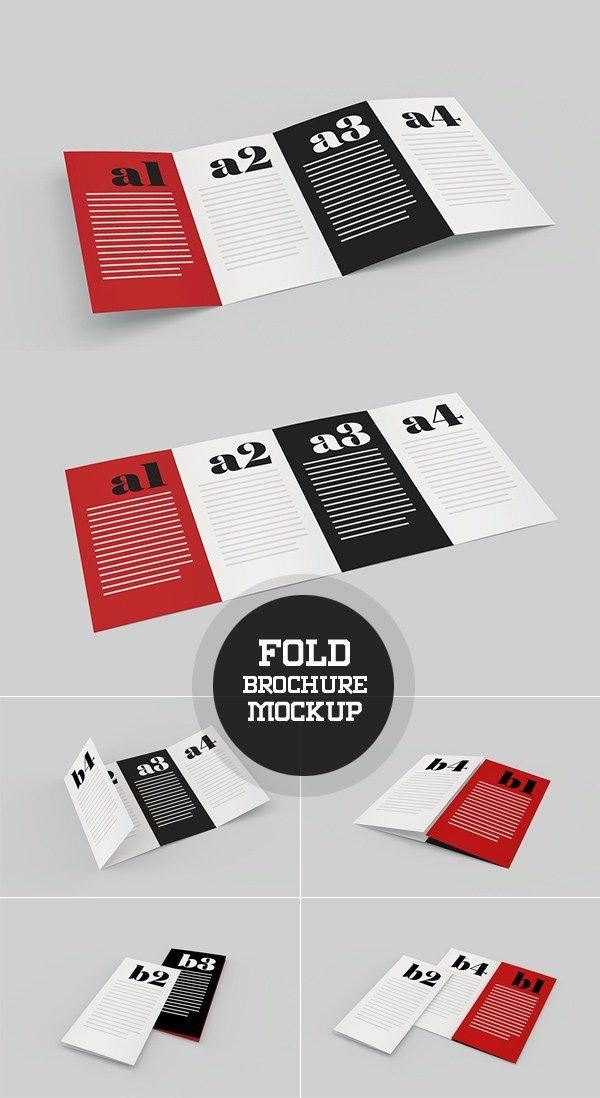 Fold Brochure Mockup Template Self Education Pinterest Mock Up