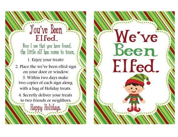 graphic regarding You Ve Been Elfed Printable called Youve Been Elfed Printable Guidelines through