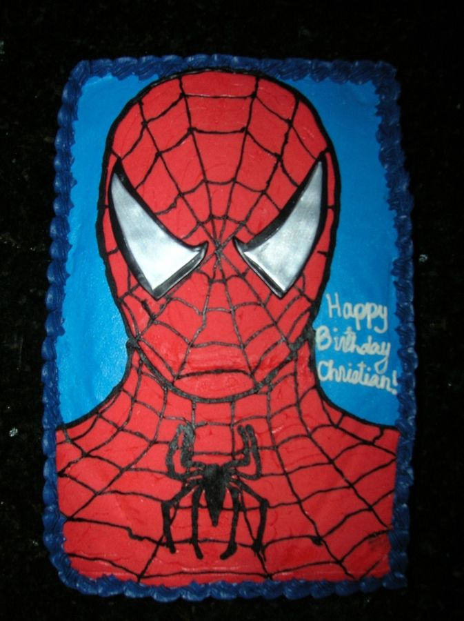 spiderman sheet cake - Google Search Birthday cakes ...