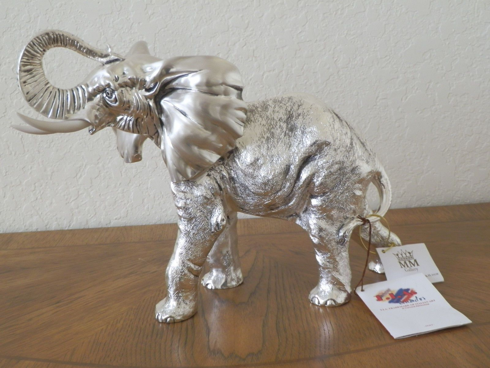 Beautiful Sculpture Statue Elephant Sterling Silver 925 Collectibles Art  Italy | EBay