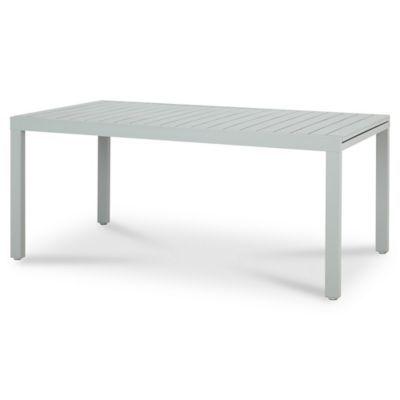 Table de jardin aluminium rectangulaire Blooma Baldi grise ...