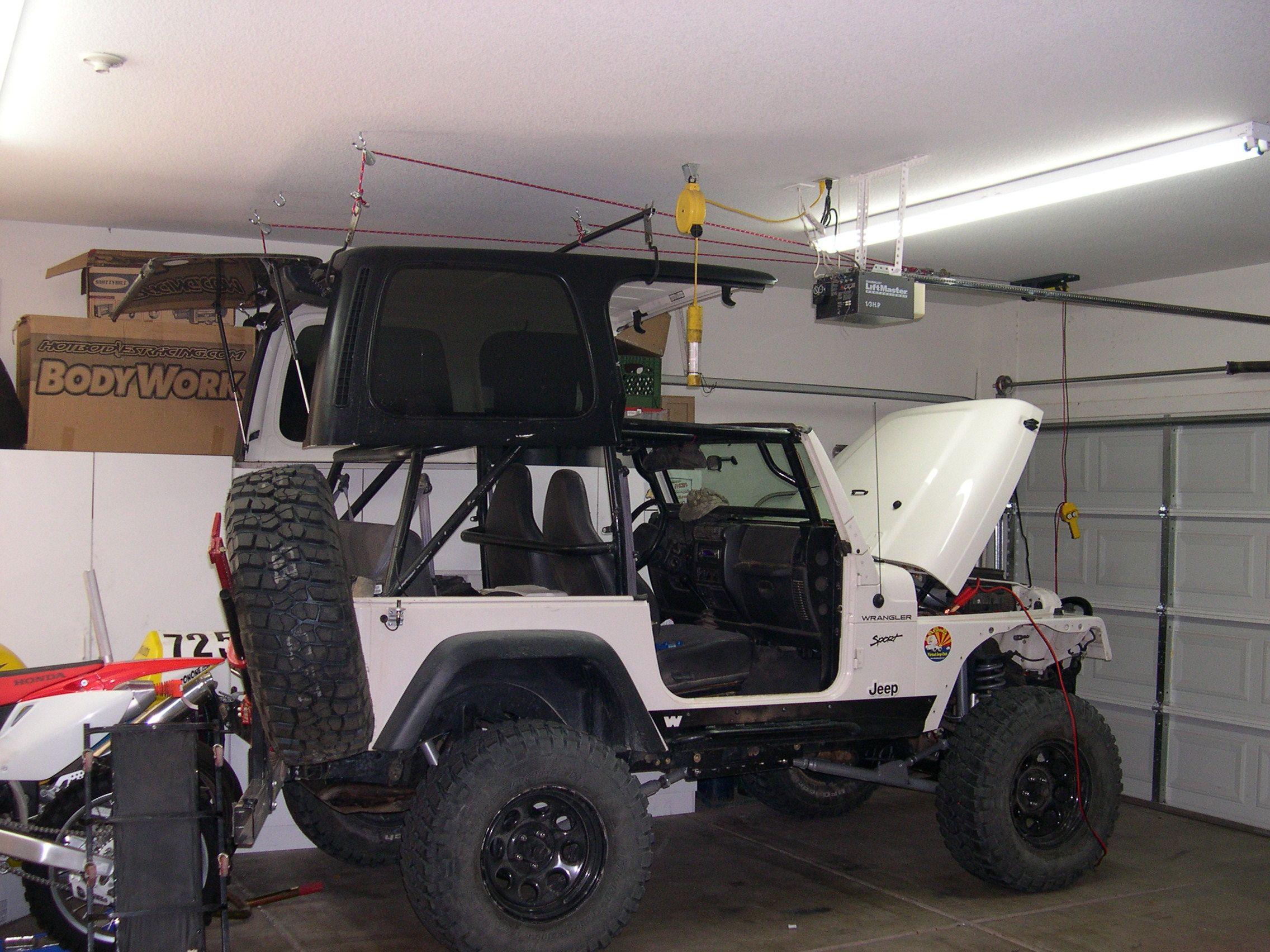 Jeep Hardtop Hoist Diy Google Search Jeep Hard Top Jeep Jeep Wrangler