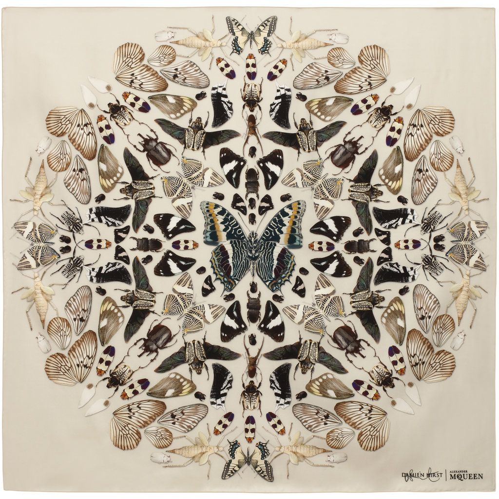 Damien Hirst and Alexander McQueen Fête a Decade of the Skull Scarf ... 550ee0eabf9