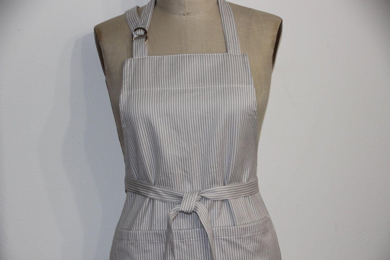 White apron etsy - Gray And White Apron Full Apron Unisex Apron Classic Apron By Wheelering