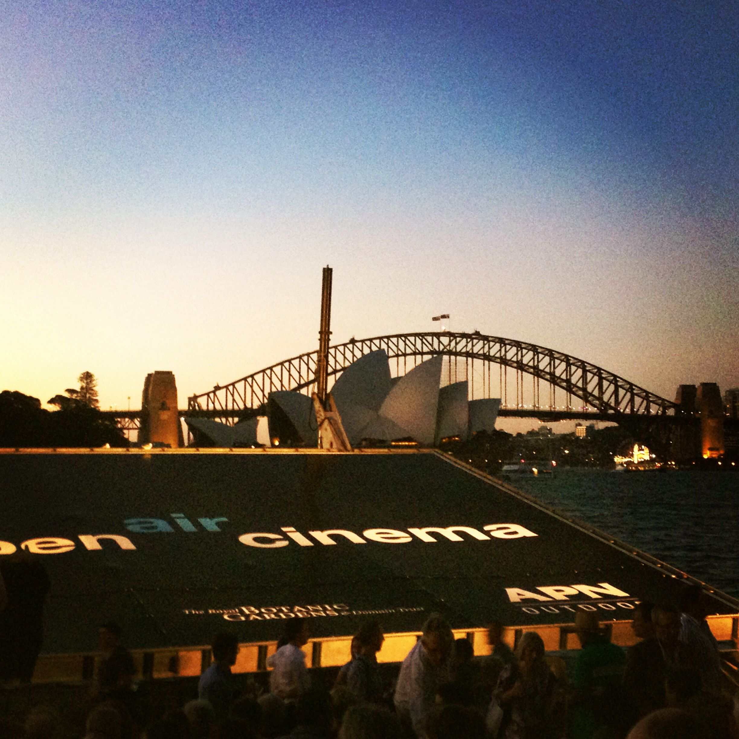 Open air cinema Sydney Harbour. Photo by Lisa Kaye