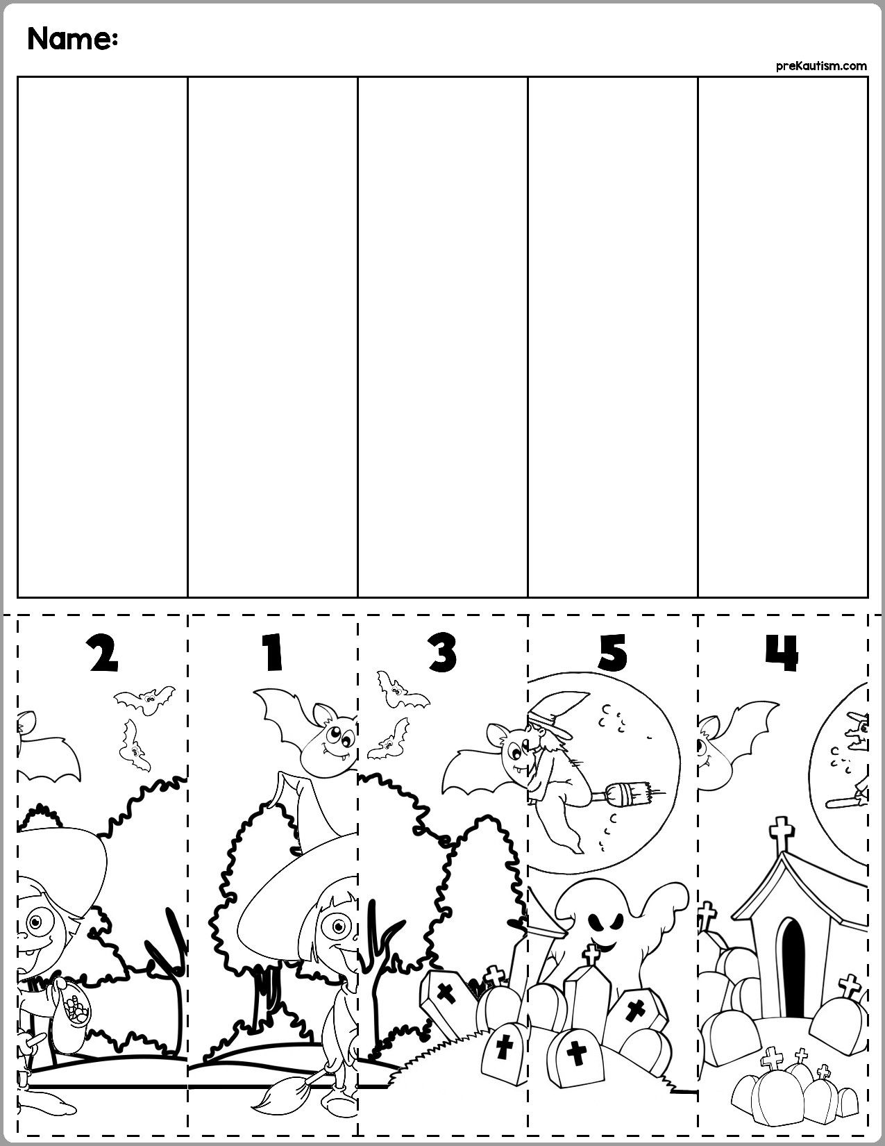 4 Halloween Number Order Worksheet In