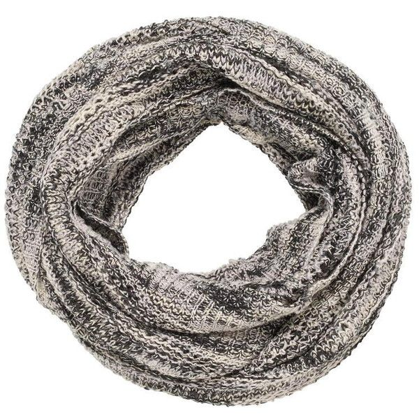 maurices Infinity Scarf In Marled Knit In Black (£11) ❤ liked on Polyvore featuring accessories, scarves, black, infinity loop scarf, knit circle scarf, maurices, circle scarf and loop scarf