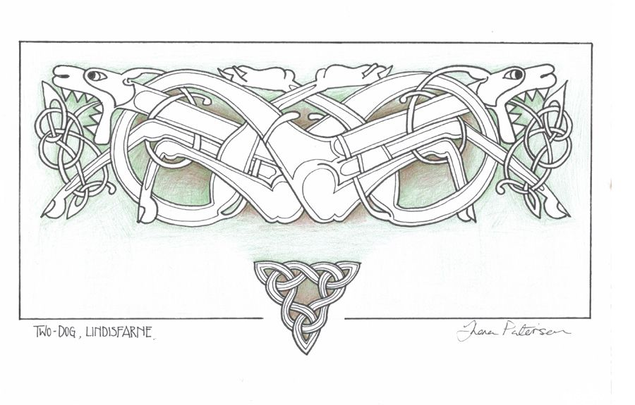 Celtic Dogs By Cre8chew Deviantart Com On Deviantart Celtic Patterns Celtic Designs Celtic Wolf Tattoo