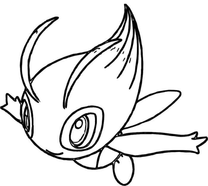 Celebi Pokemon Coloring Pages Pokemon Coloring Pages