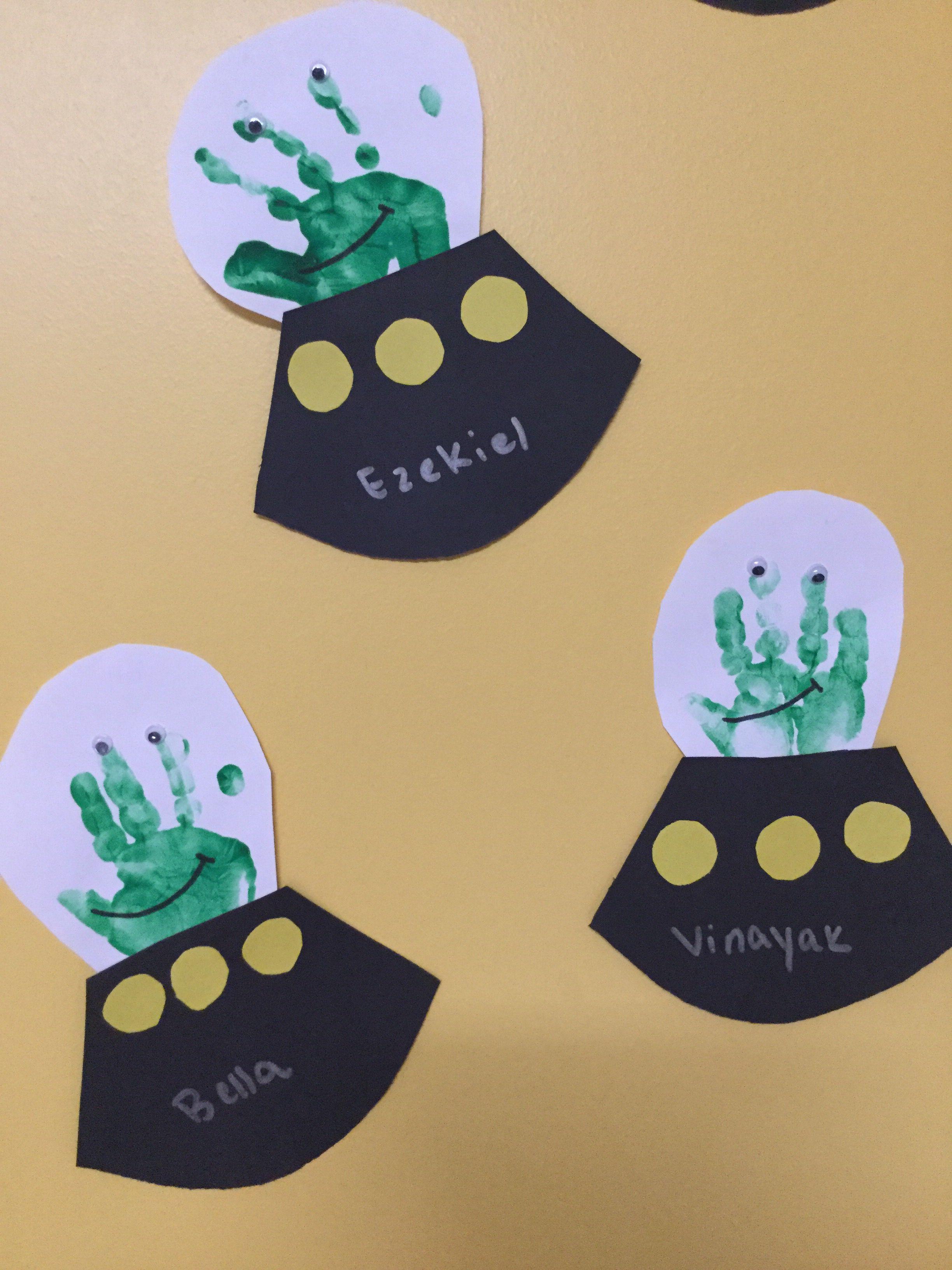 Handprint Alien Spaceship