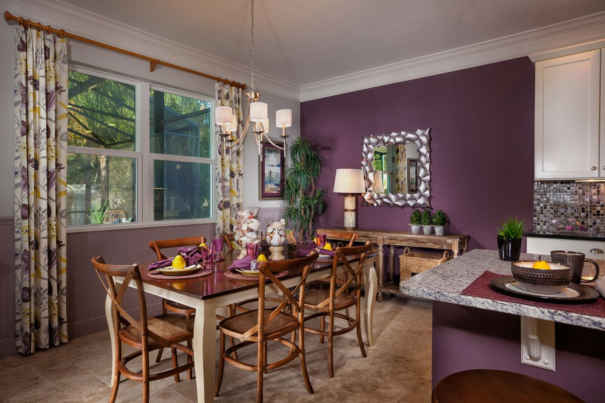 The Cove At Bay Pines Purple Dining Room Dining Room Style Tropical Dining Room