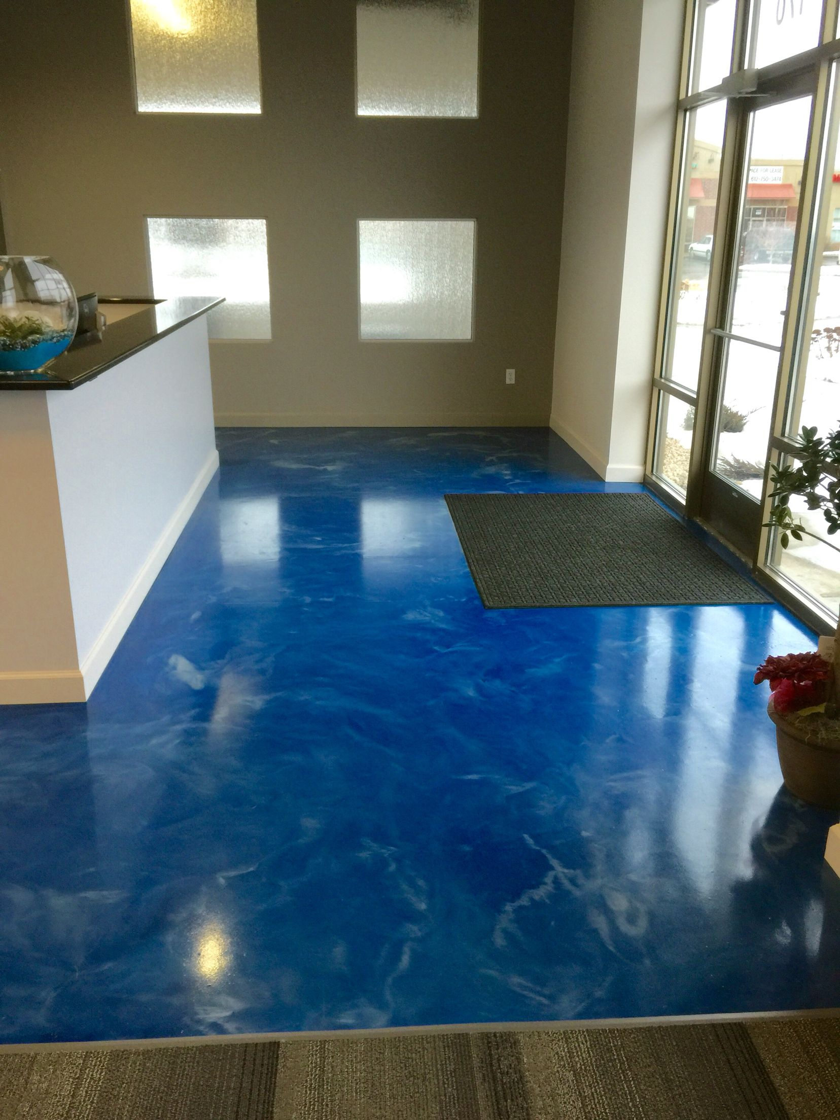 Metallic Epoxy Floor Installed For A Dental Office By Sierra