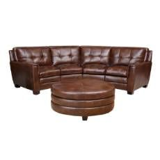 Abbyson Living Alexia Premium Top Grain Leather Sectional And Ottoman    Overstock™ Shopping   Big Discounts On Abbyson Living Sectional Sofas