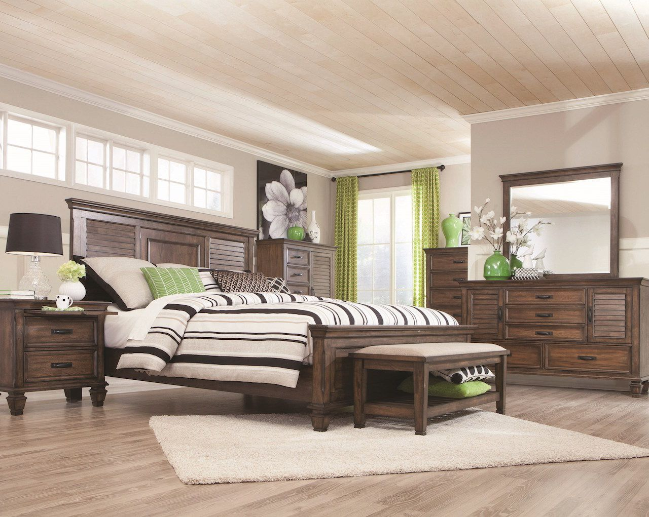 Franco Collection 200971 Bedroom Set in Rustic