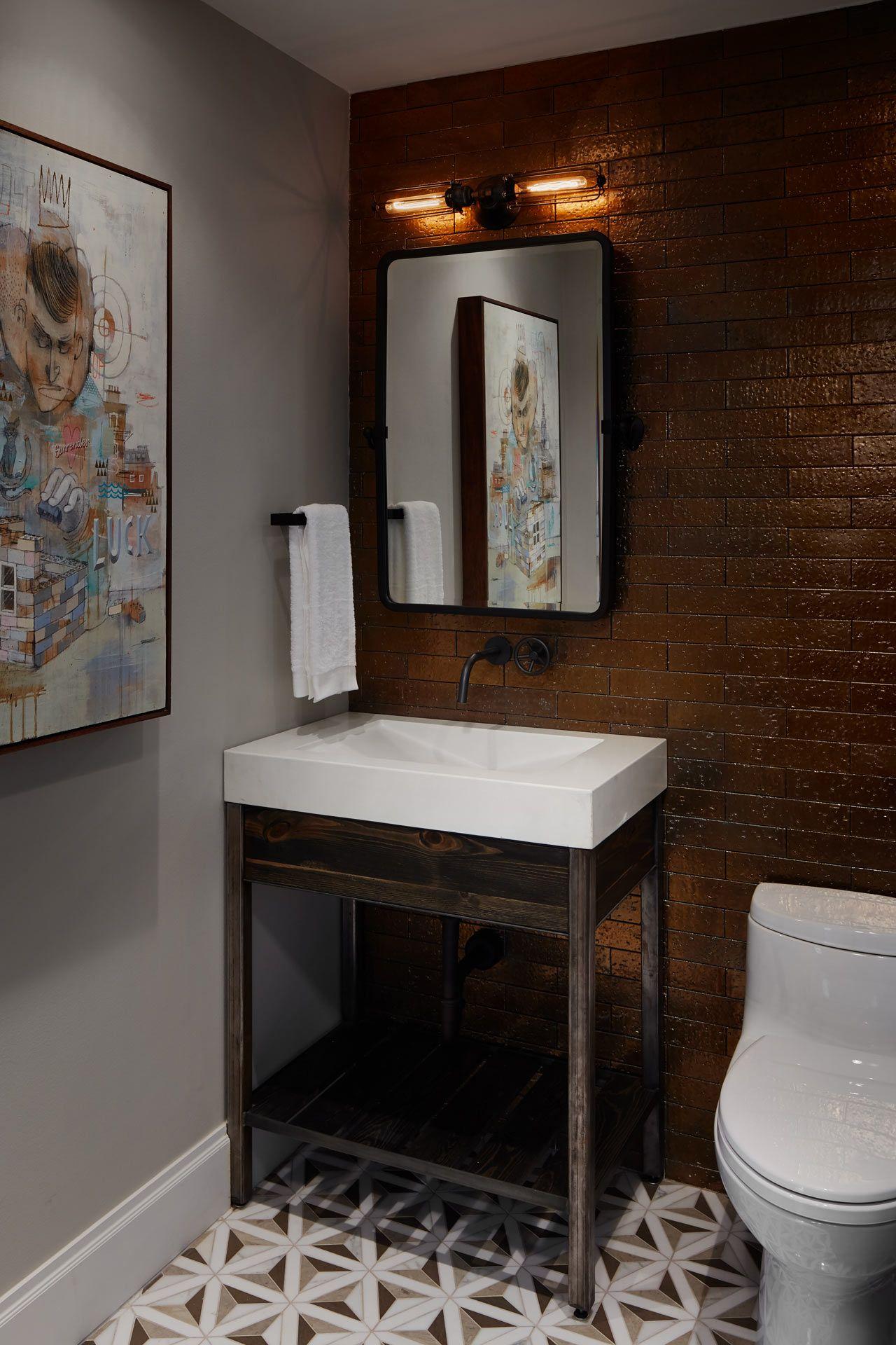 Inspired Interiors Bachelor Pad 8 Design Milk Chicago Interior Design Bathroom Design Decor Bachelor Pad