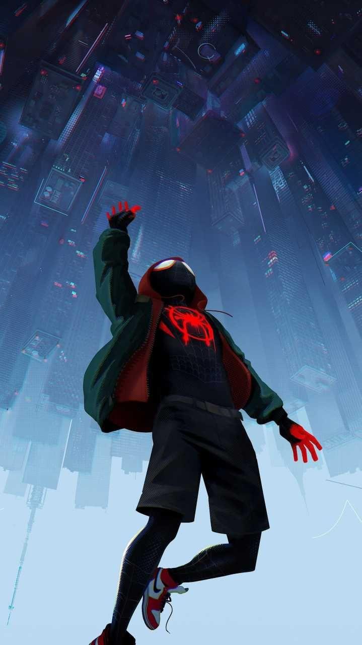 spider man into the spider verse movie hd still poster