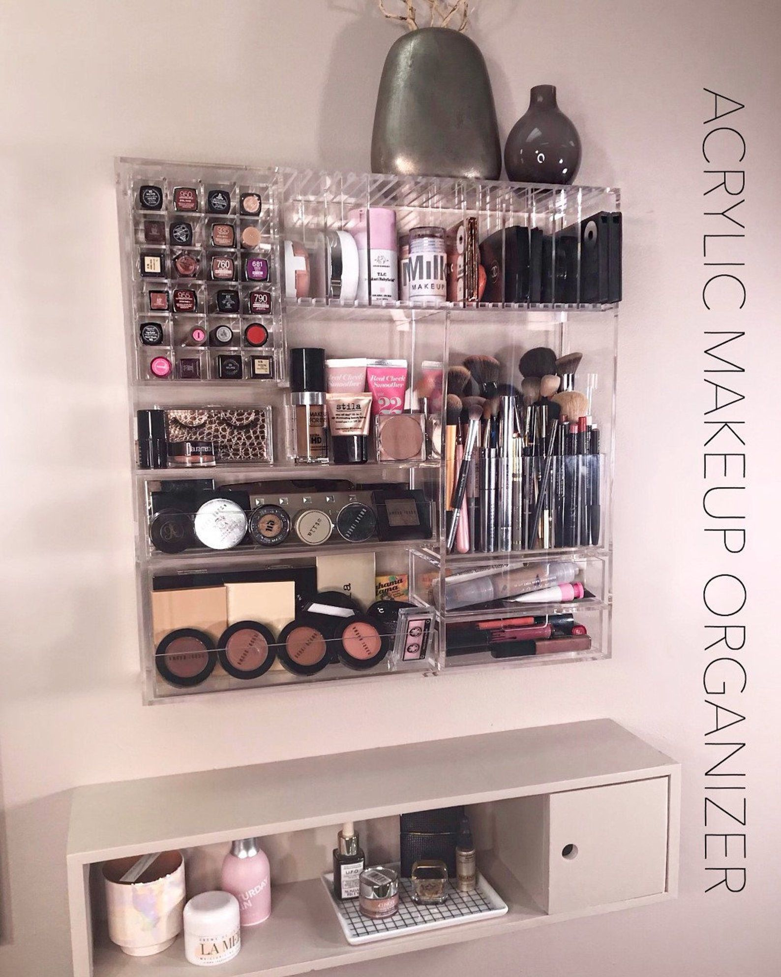 PRESALE!! Acrylic Wall Mounted/Countertop Makeup
