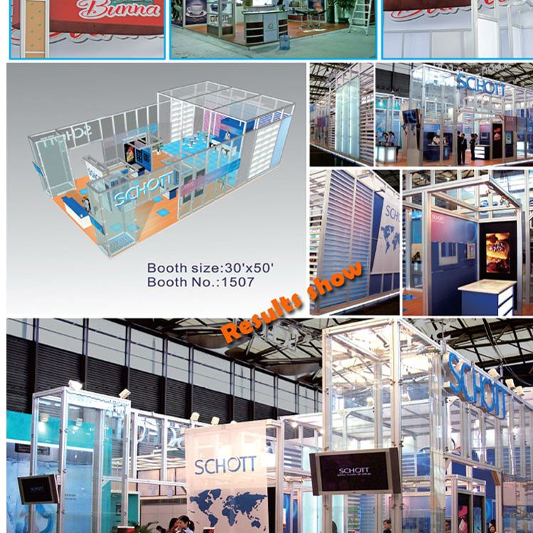 Small Exhibition Stand Sizes : Simple portable small exhibition booth stand made of aluminium